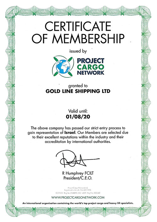 Project Cargo Network Membership